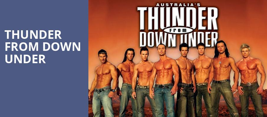 Thunder From Down Under, Lyric Theatre, West Palm Beach