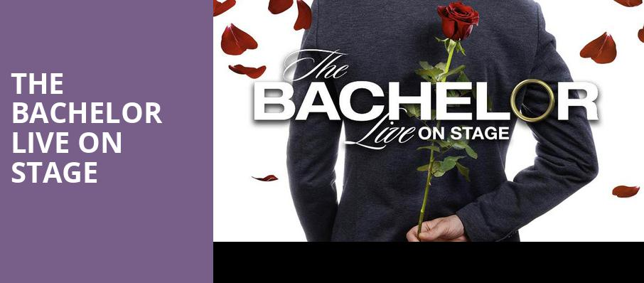The Bachelor Live On Stage, Dreyfoos Concert Hall, West Palm Beach