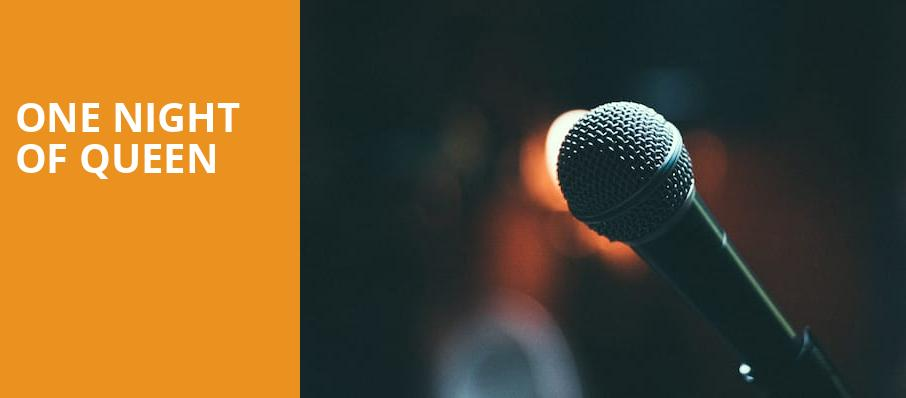 One Night of Queen, Dreyfoos Concert Hall, West Palm Beach